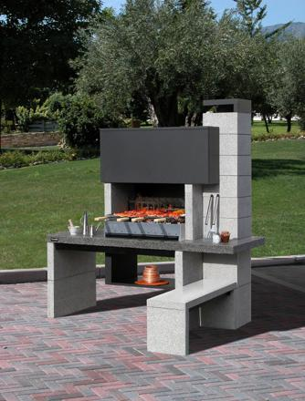 barbecue pierre moderne