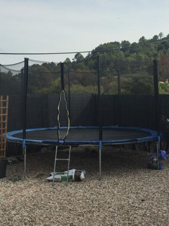barre pour filet de protection trampoline