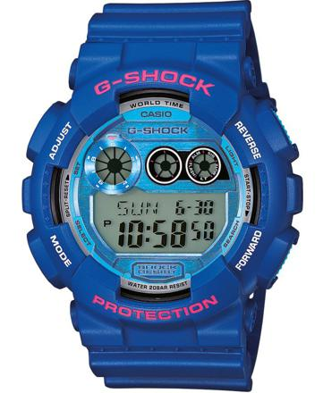 casio g shock bleu