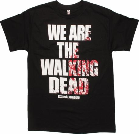 t shirt the walking dead