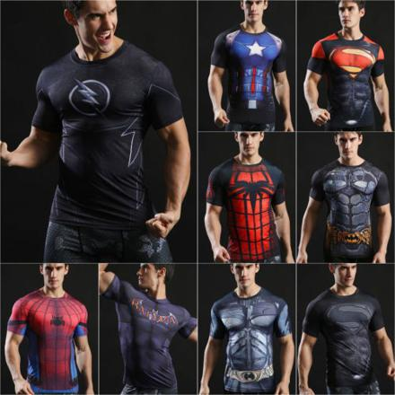 tee shirt compression marvel