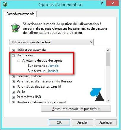 veille ordinateur windows 7