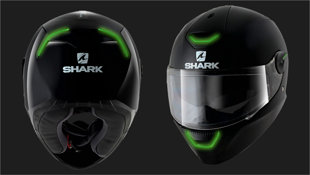 shark led casque